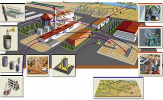 Ilustracion central nuclear