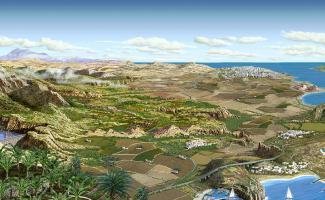 Ilustración paisaje Canarias