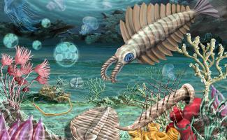 Ilustración paleozoico