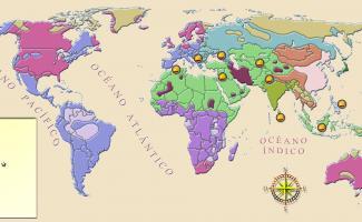 Ilustración mapa religiones